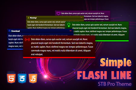 STB Pro Simple Flash Line Theme